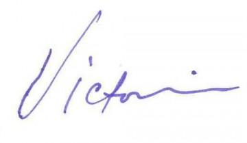 Victoria Watkins signature