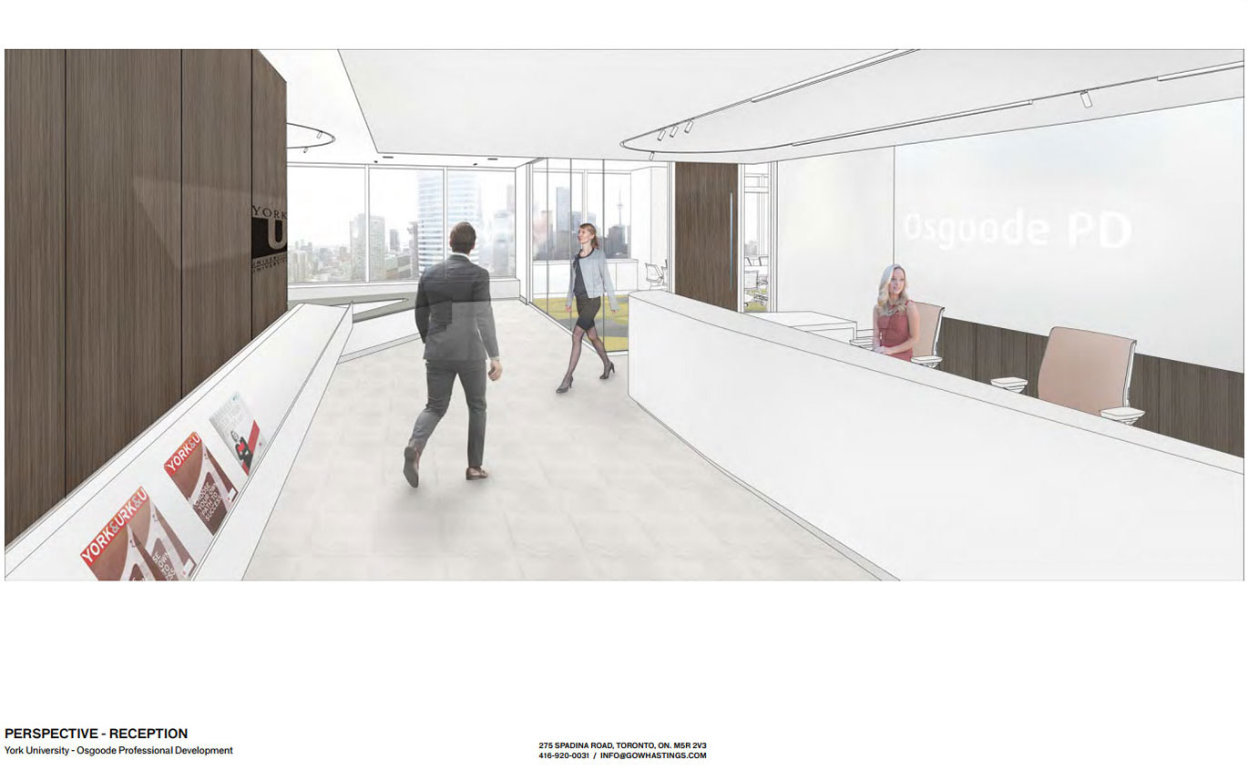 Gow Hastings proposed plans for OsgoodePD Reception area
