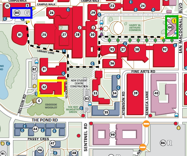 Osgoode Hall Law School Map