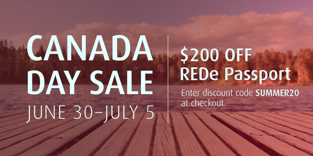 Canada Day Sale: June 30-July 5 | $200 Off REDe Passport. Enter discount code SUMMER20 at checkout.